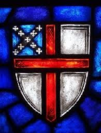 Episcopal Shield in Stained glass