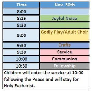 Sunday Service Schedule